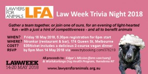 Law Week Trivia Night 2018 extended RSVP