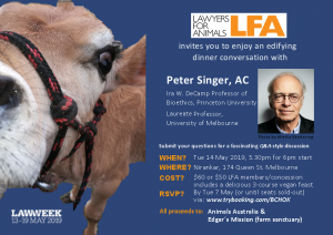 LFA Singer Q&A dinner 2019 invite